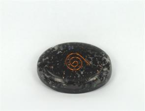 Orgonit - Orgonite sort Turmalin 4,5 cm